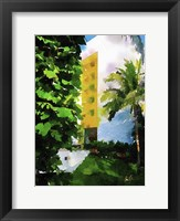 Framed Yellow Hotel