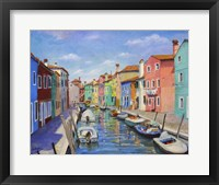 Framed Colorful Burano