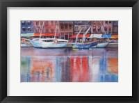 Framed Honfleur Le Vieux Port