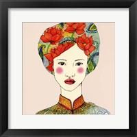 Framed Lotus Girl