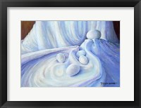 Framed Eggs in White Satin