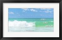 Framed Live Love Dream