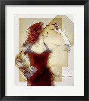 Framed Lady In Red