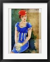 Framed Woman In Blue