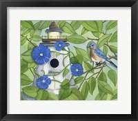 Framed Bird Lighthouse