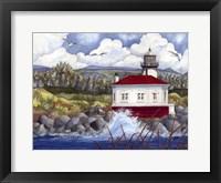 Framed Lighthouse on Rocks