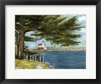 Framed Lighthouse Under Tree