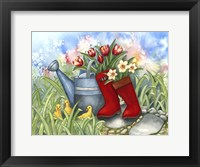 Framed Tulips in Boots