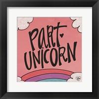 Framed Part Unicorn
