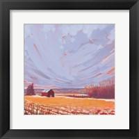 Framed Slate Winter Sky