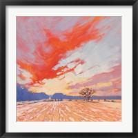 Framed Blaze Winter Sky