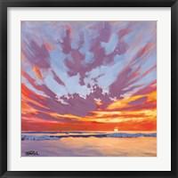Framed Beach Break Sunset