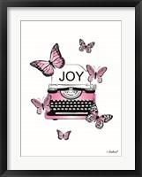 Framed Joyful Typewriter