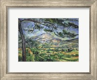 Framed Mont Sainte-Victoire with Large Pine Tree
