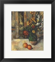 Framed Vase and Apples