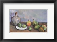 Framed Still Life with Pitcher and Fruit