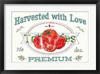 Framed Veggie Market I