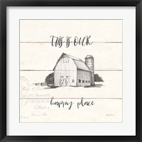 Life at Home IV Shiplap Framed Print