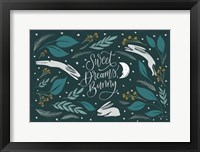 Framed Sweet Dreams Bunny I