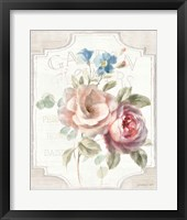 Framed Cottage Garden IV on wood