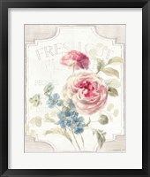 Framed Cottage Garden II on wood