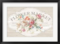 Framed Cottage Garden I on wood