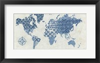 Framed Indigo Gild Map Maki - No Border
