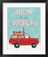 Framed Holiday Travelers IV Wonderland