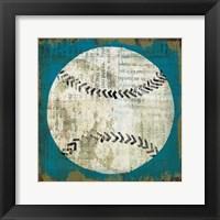 Ball I on Blue Framed Print
