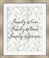 Framed Family Is Love - Leaves