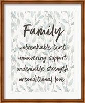 Framed Family Unbreakable Trust - Leaves