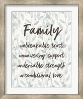 Framed Family Unbreakable Trust - Leaves