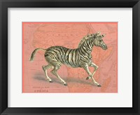Framed African Animals on Coral III
