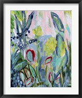 Framed Opulent Floral Strokes III