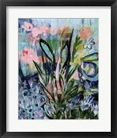 Framed Opulent Floral Strokes IV