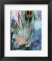 Framed Opulent Floral Strokes VI