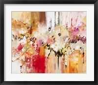Framed Red, White & Gold III