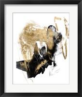 Black & Gold Splash I Framed Print