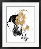 Framed Black & Gold Splash II