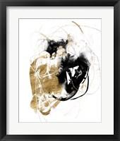 Black & Gold Splash III Framed Print