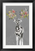 Framed Deer & Flowers II