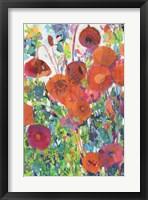 Framed Vivid Poppy Collage I