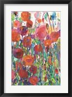 Framed Vivid Poppy Collage II