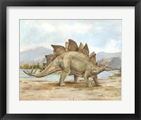Framed Dinosaur Illustration I