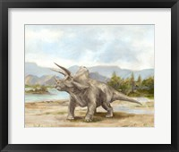 Framed Dinosaur Illustration II