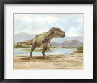 Framed Dinosaur Illustration III