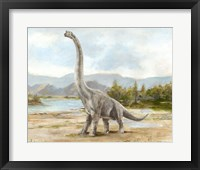 Framed Dinosaur Illustration IV