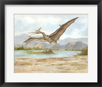 Framed Dinosaur Illustration VI