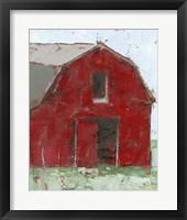 Framed Big Red Barn I