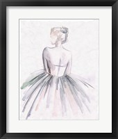 Framed Watercolor Ballerina I